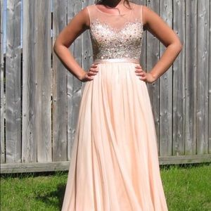 Dresses & Skirts - Blush Chiffon Gown with Beading